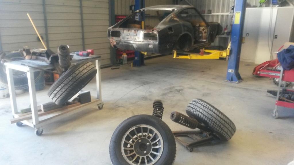 Datsun 240Z Body Work Commences